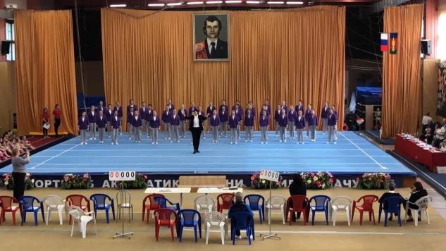Участие в церемонии открытия Чемпионата России по спортивной акробатике