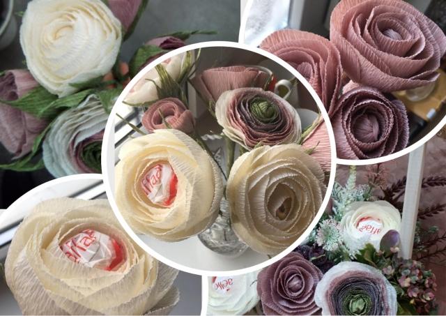 Букеты из конфет - прекрасные цветы с сюрпризом