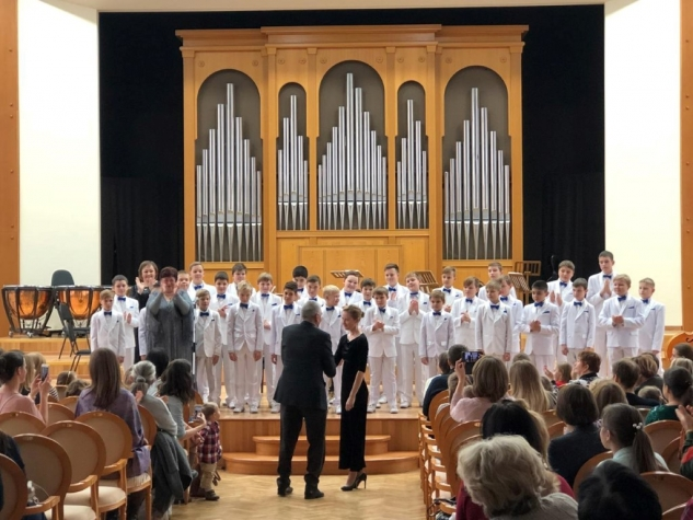 Хор мальчиков на концерте «Музыкальные картинки»